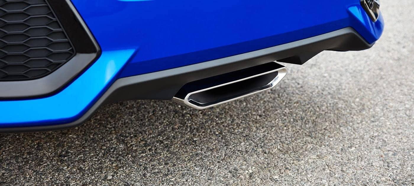 2019 Honda Civic Si center mounted exhaust