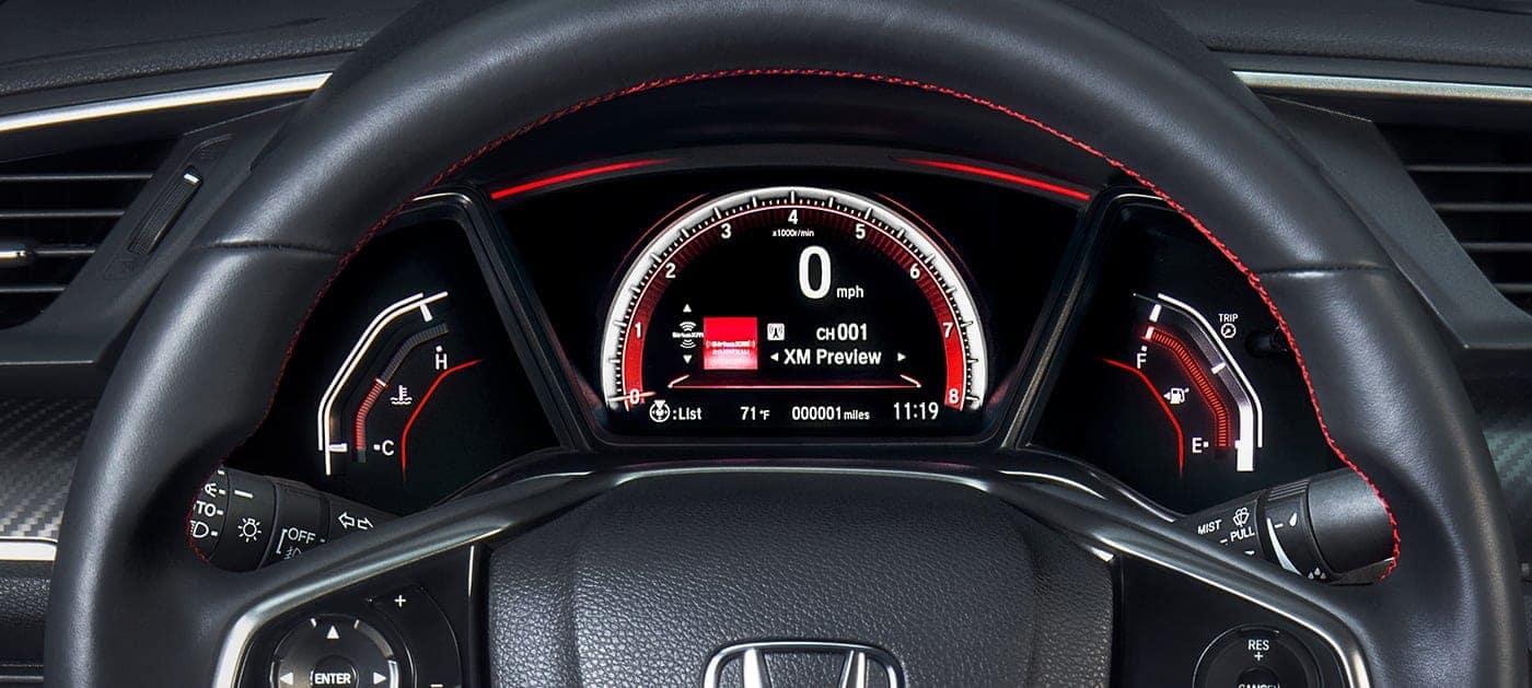 2019 Honda Civic Si driver information interface