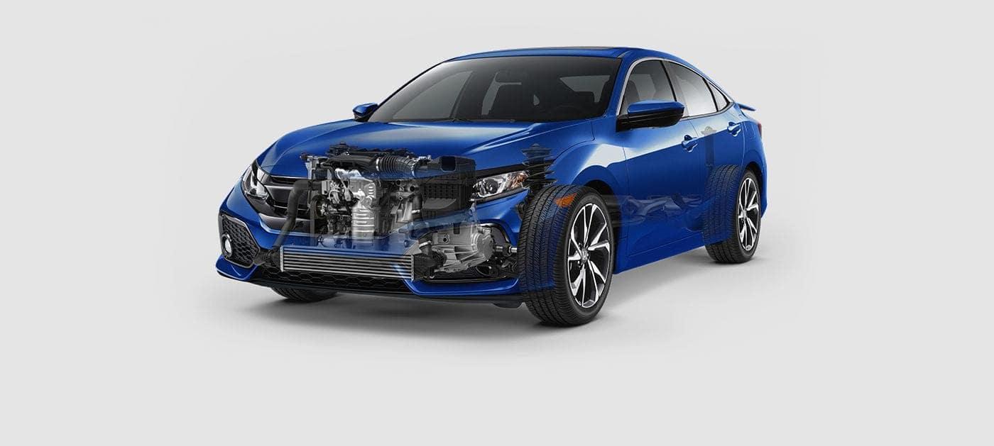 2019 Honda Civic Si turbocharged engine
