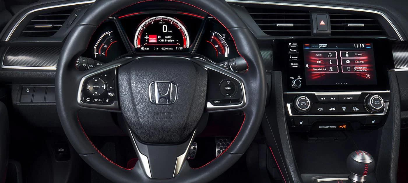 2019 Honda Civic Si steering wheel