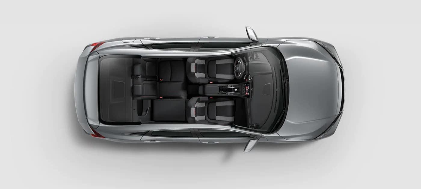 2019 Honda Civic Si interior space