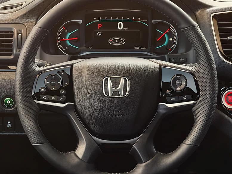 2020 Honda Passport with heated steering wheel