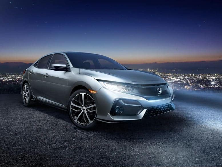 2020 Honda Civic Hatchback with LED Headlights with Auto on/off