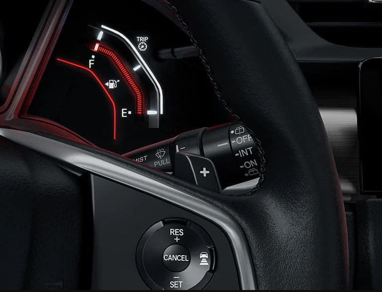 2020 Honda Civic hatchback with paddle shifters