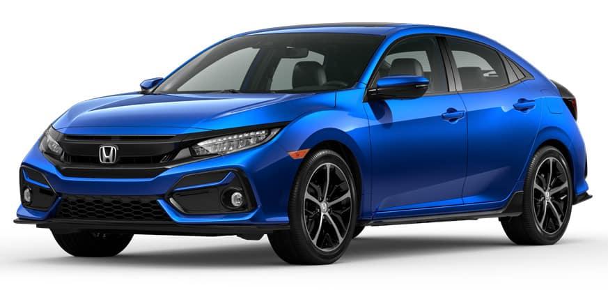 2020 Honda Civic Hatchback Aegean Blue Metallic