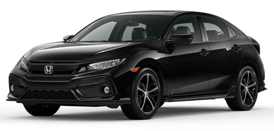 2020 Honda Civic Hatchback Crystal Black Pearl