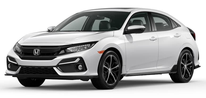 2020 Honda Civic Hatchback Platinum White Pearl