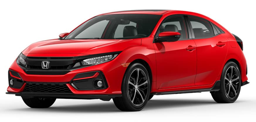 2020 Honda Civic Hatchback Rallye Red