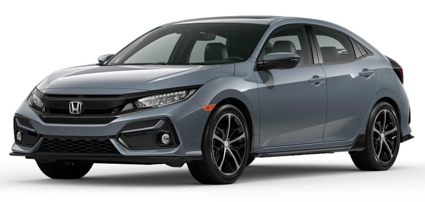 2020 Honda Civic Hatchback Sonic Gray Pearl