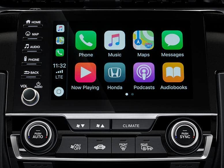 2020 Honda Civic hatchback with apple carplay and android auto