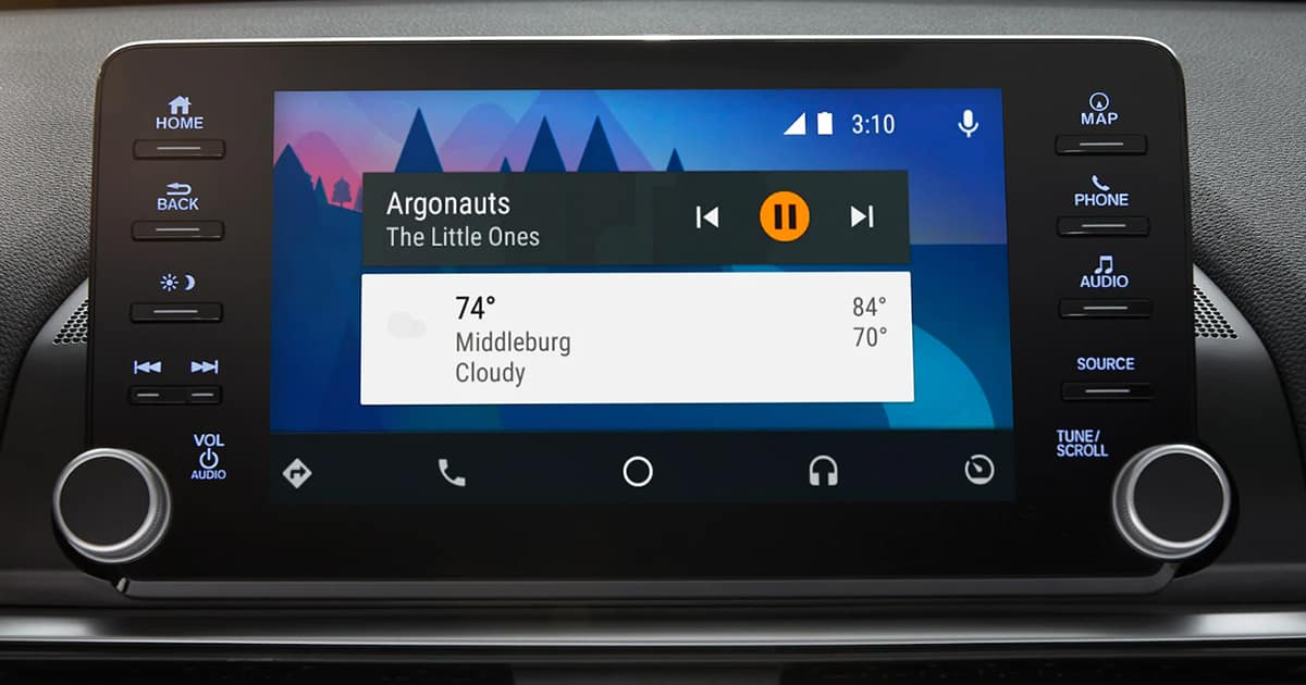 Android Auto display in Honda Accord