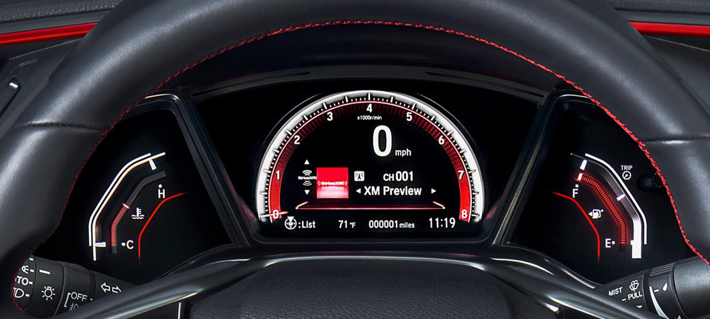 2020 Honda Civic Si driver information interface