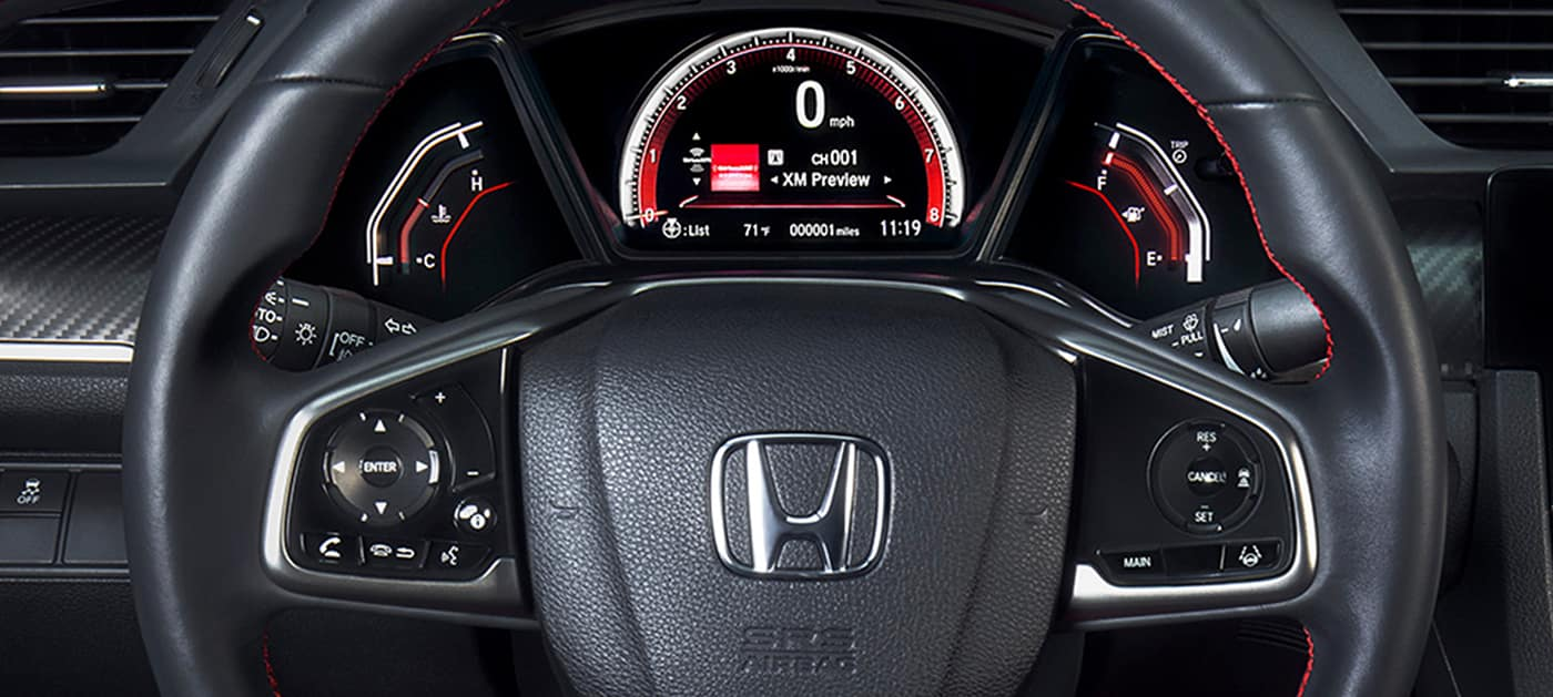 2020 Honda Civic Si steering wheel