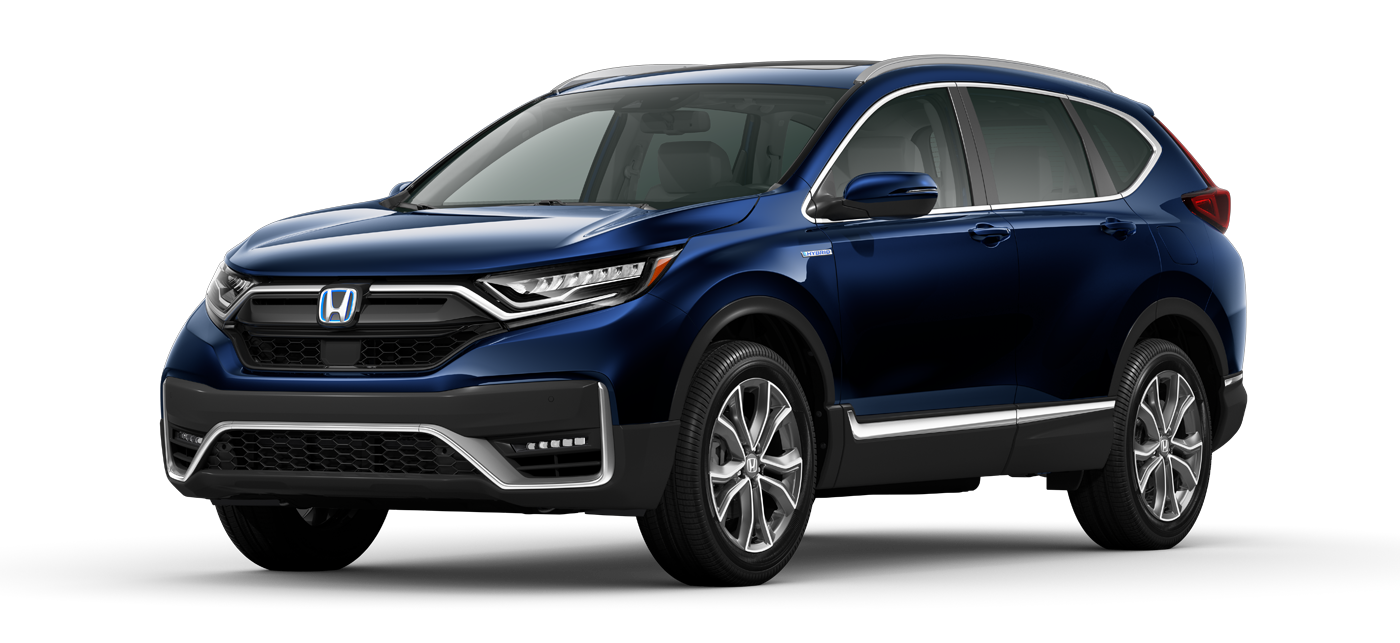 2021 Honda CR-V Hybrid in Obsidian Blue Pearl