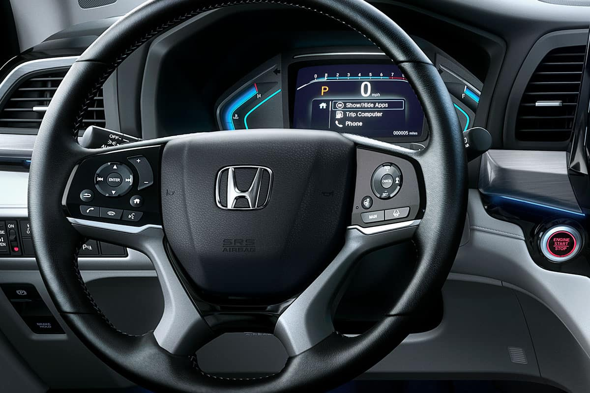 2021 Honda Odyssey Elite with heated steering wheel