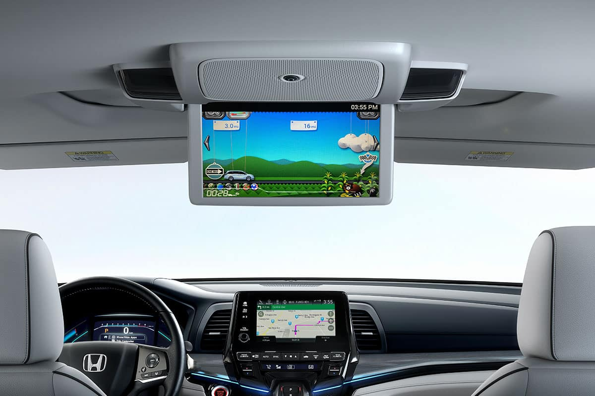 2021 Honda Odyssey with rear entertainment dvd blu ray player with streaming apps