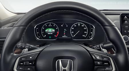 2021 Honda accord with leather-wrapped steering wheel