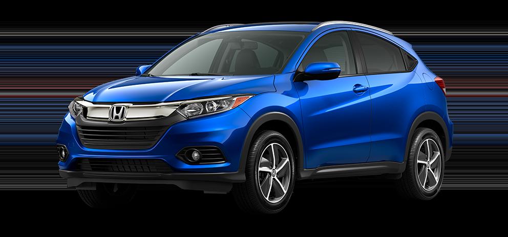 2021 Honda HR-V EX-L in aegean blue metallic