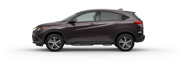 2021 Honda HR-V EX-L in midnight amethyst pearl