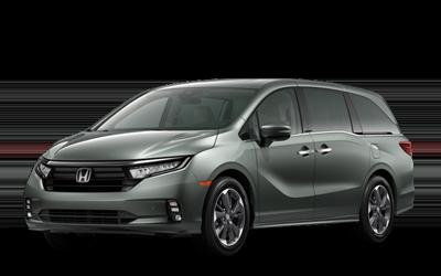 2021 Honda Odyssey in forest mist metallic green