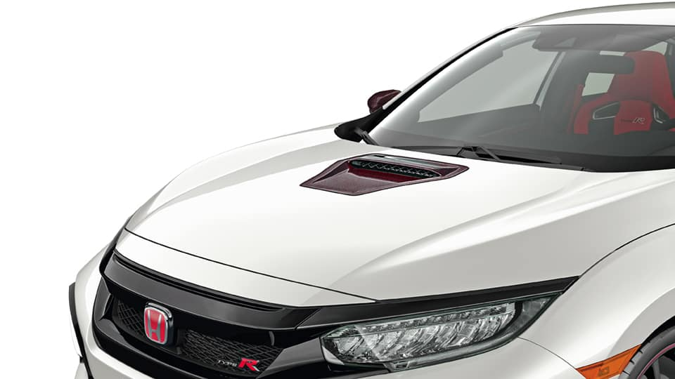 2021 Honda Civic Type R with Carbon Fiber Hood Scoop