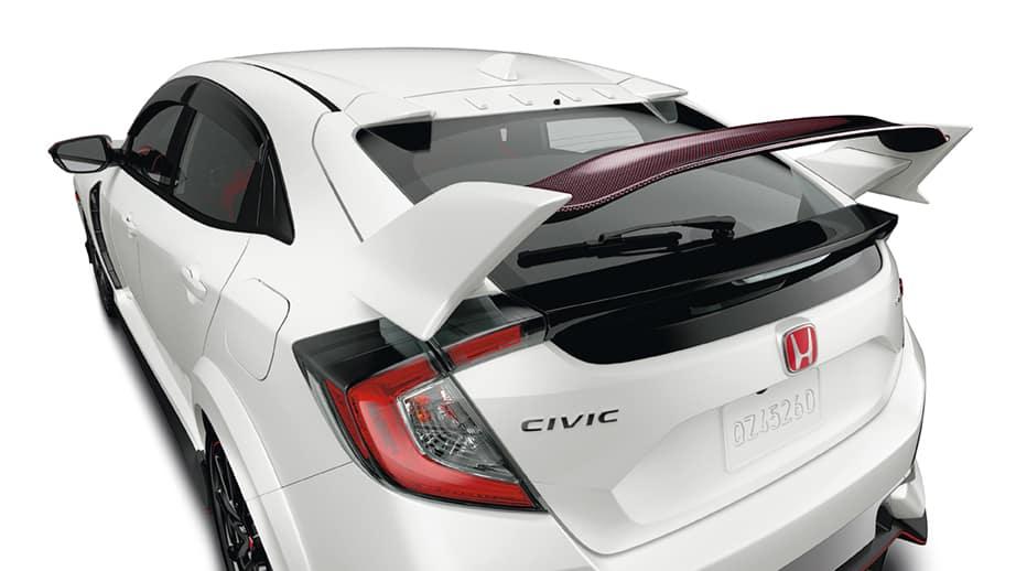 2021 Honda Civic Type R with carbon fiber wing spoiler