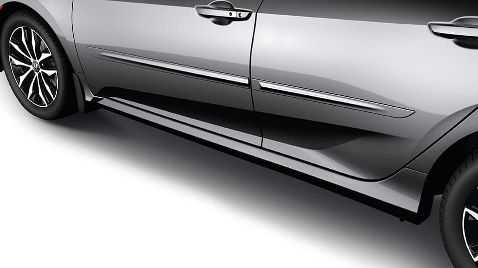 2021 civic sedan with door body side molding