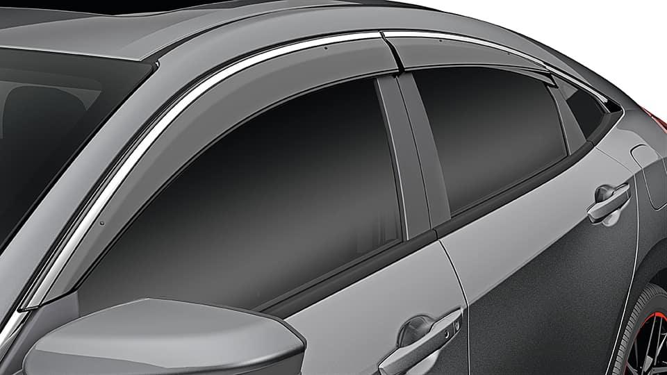 2021 honda civic window door visors