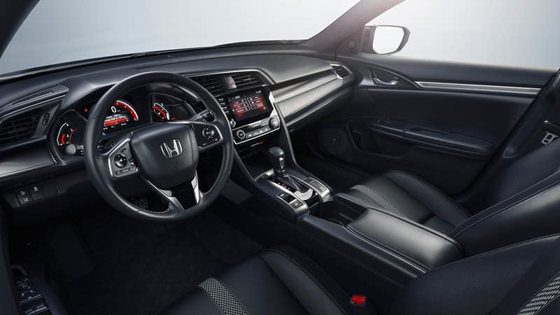 2021 civic sedan interior pan of driver cockpit
