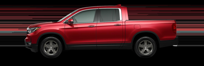 2021 Honda Ridgeline RTL-E in radiant red pearl II