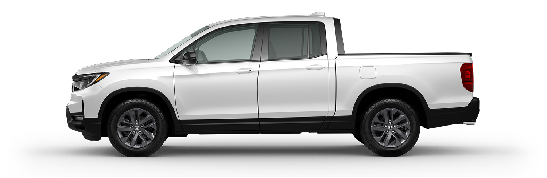 2021 Honda Ridgeline Sport in Platinum white pearl