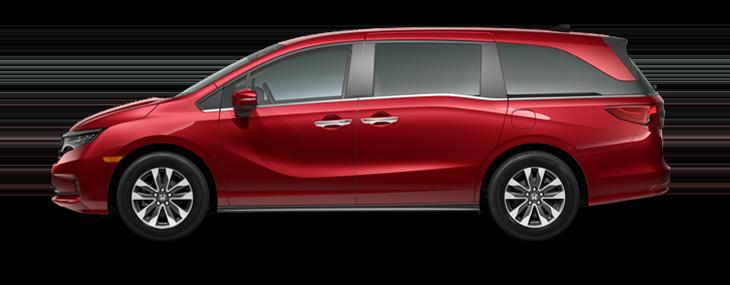 2022 Honda Odyssey EX-L in Deep Scarlet Pearl