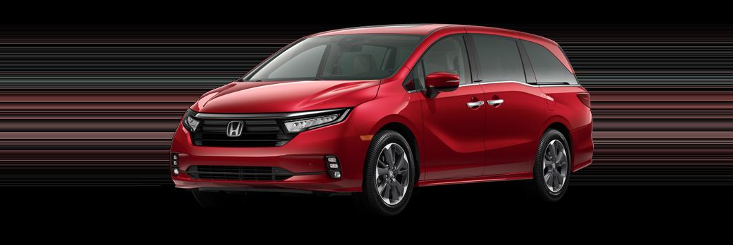 2021 Honda Odyssey in radiant red metallic II 2