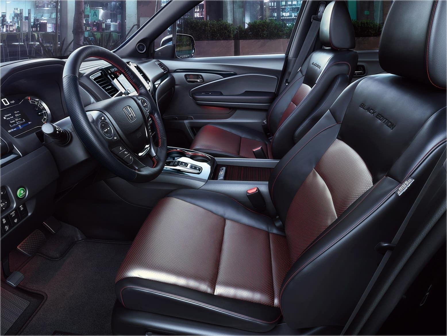 2021 Honda black edition leather seats