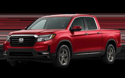 2021 Honda Ridgeline in radiant red metallic