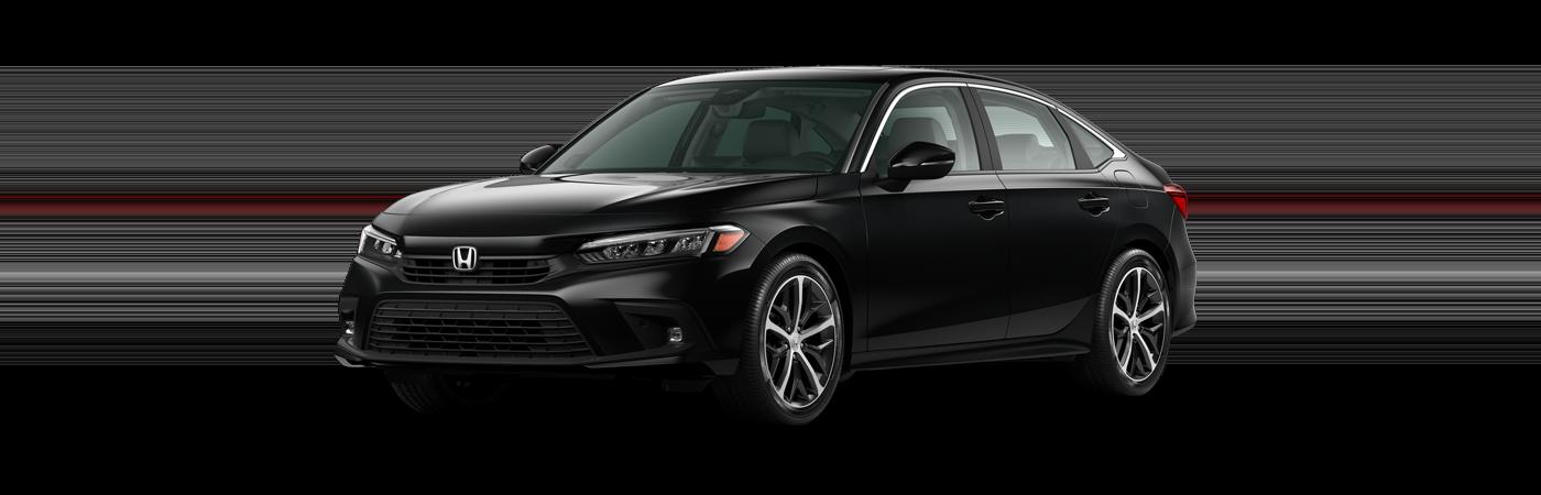 2022 Honda Civic in Crystal Black Pearl