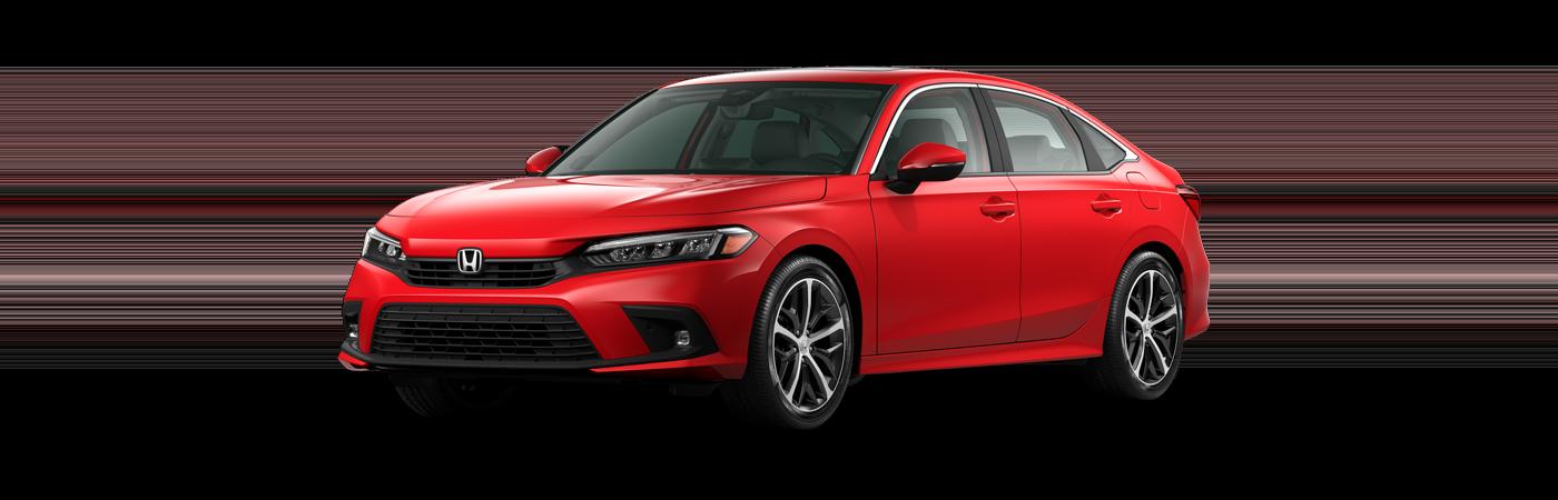 2022 Honda Civic in Rallye Red