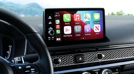 2022 Honda Civic with apple carplay and android auto