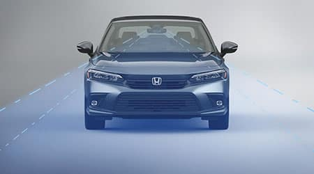2022 Honda Civic with Honda sensing suite of safety technology