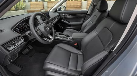 2022 Honda Civic with leather seats