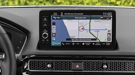 2022 Honda Civic Sedan with Honda Satellite Linked Navigation System