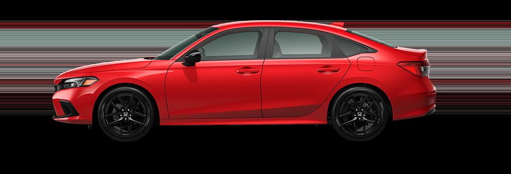 2022 Honda Civic Sedan Sport in rallye red