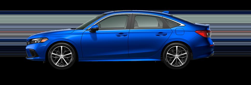 2022 Honda Civic Sedan Touring in aegean blue metallic