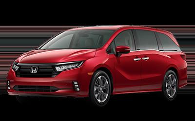2021 Honda Odyssey in radiant red metallic II