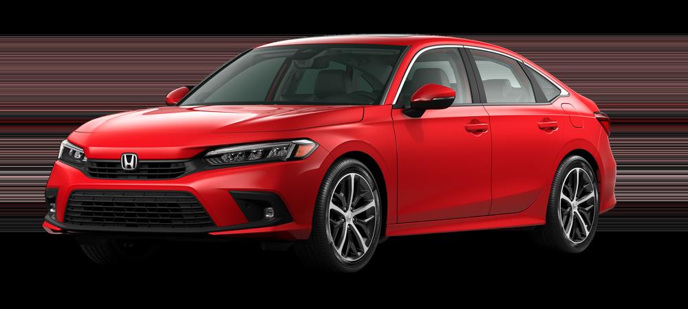 2022 civic sedan in rallye red