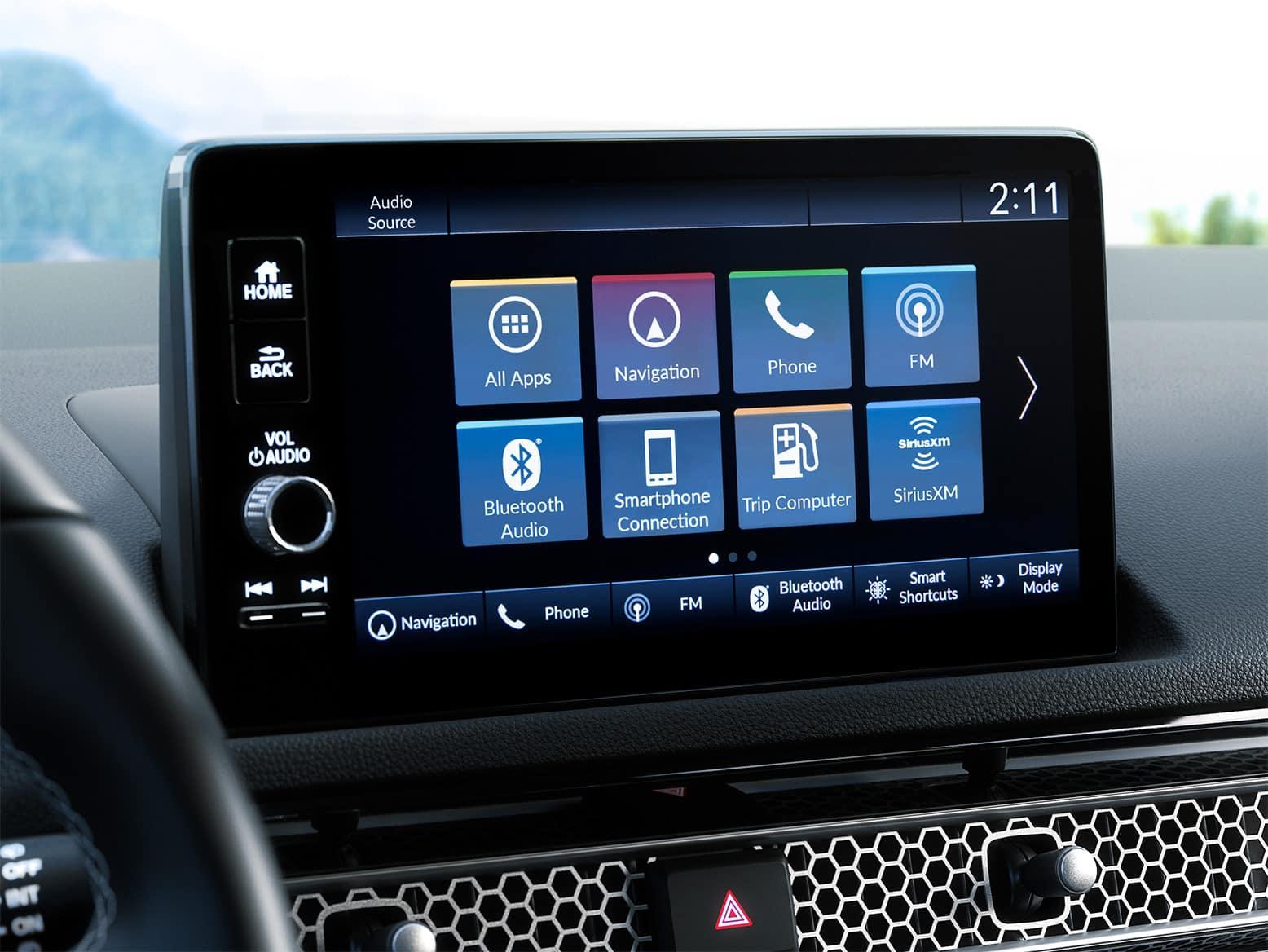 2022 Honda Civic hatchback with Honda Satellite Linked Navigation System
