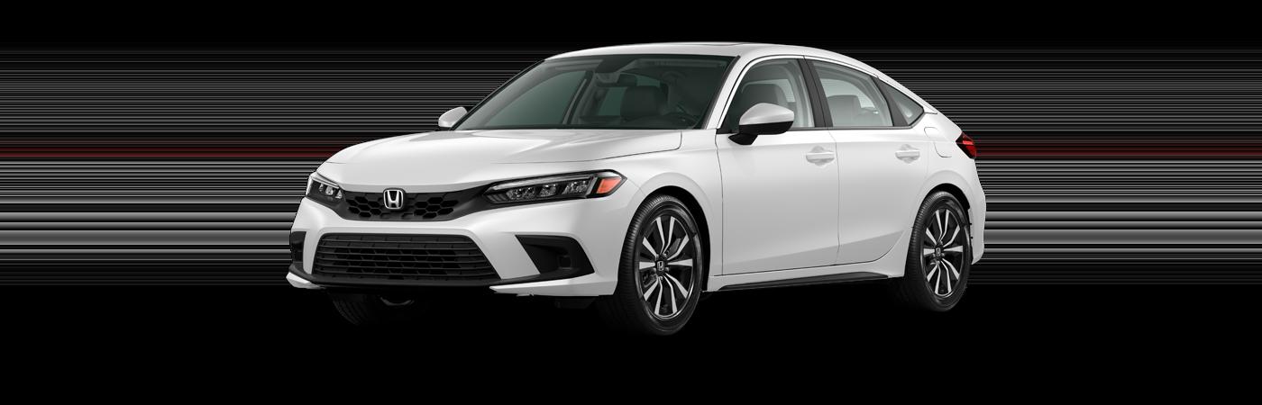 2022 Honda Civic in Platinum White Pearl