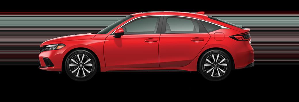 2022 Honda Civic Hatchback EX-L in rallye red paint