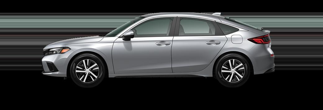 2022 honda civic hatchback lx in lunar silver metallic paint