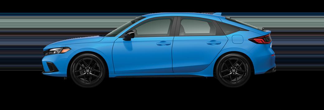 2022 Honda Civic Hatchback Sport in boost blue pearl